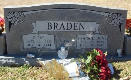 BRADEN, FRANKIE JUNE - Anderson County, Tennessee | FRANKIE JUNE BRADEN - Tennessee Gravestone Photos