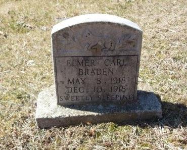 BRADEN, ELMER CARL - Anderson County, Tennessee | ELMER CARL BRADEN - Tennessee Gravestone Photos