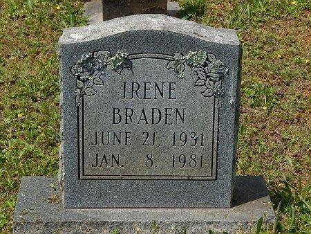 BRADEN, IRENE - Anderson County, Tennessee | IRENE BRADEN - Tennessee Gravestone Photos