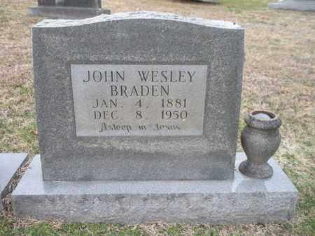 BRADEN, JOHN WESLEY - Anderson County, Tennessee | JOHN WESLEY BRADEN - Tennessee Gravestone Photos