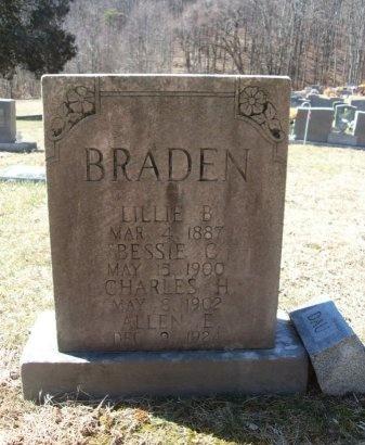 BRADEN, LILLIE B. - Anderson County, Tennessee | LILLIE B. BRADEN - Tennessee Gravestone Photos