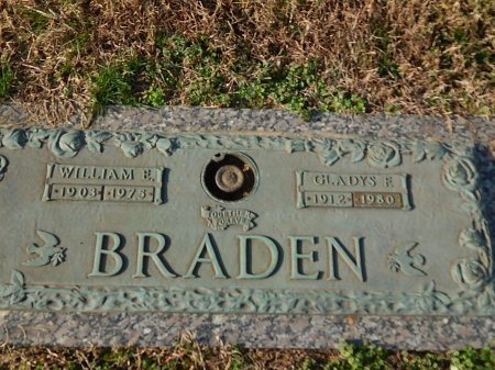 BRADEN, WILLIAM E - Anderson County, Tennessee | WILLIAM E BRADEN - Tennessee Gravestone Photos