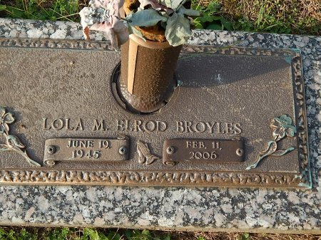ELROD BROYLES, LOLA M - Anderson County, Tennessee | LOLA M ELROD BROYLES - Tennessee Gravestone Photos