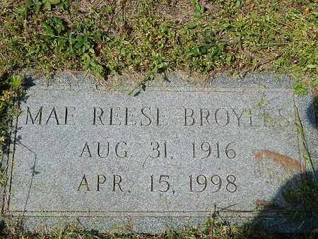 REESE BROYLES, MAE - Anderson County, Tennessee   MAE REESE BROYLES - Tennessee Gravestone Photos
