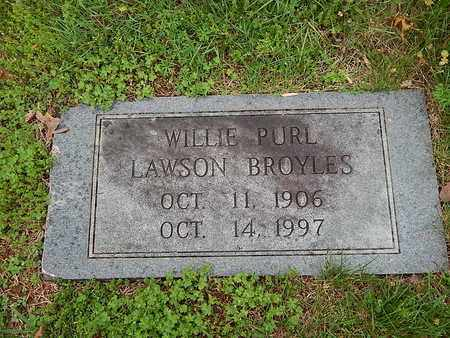BROYLES, WILLIE PURL - Anderson County, Tennessee | WILLIE PURL BROYLES - Tennessee Gravestone Photos