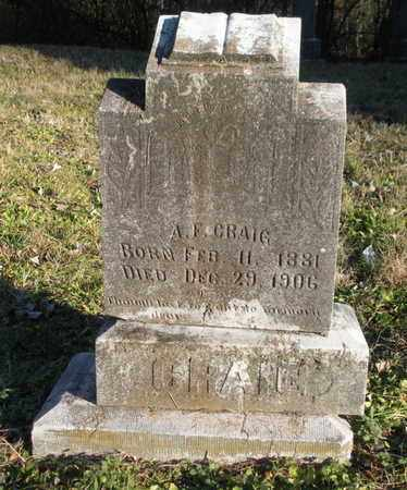 CRAIG, A F - Anderson County, Tennessee | A F CRAIG - Tennessee Gravestone Photos