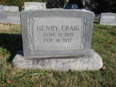 CRAIG, HENRY - Anderson County, Tennessee | HENRY CRAIG - Tennessee Gravestone Photos