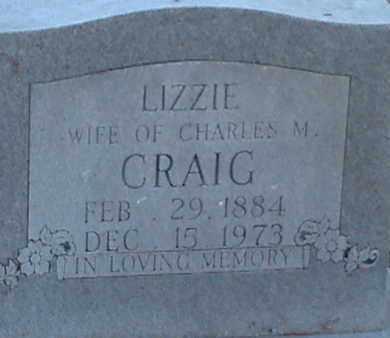 CRAIG, LIZZIE - Anderson County, Tennessee   LIZZIE CRAIG - Tennessee Gravestone Photos