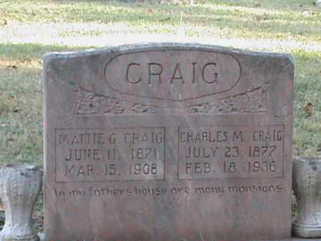 CRAIG, MATTIE G - Anderson County, Tennessee | MATTIE G CRAIG - Tennessee Gravestone Photos
