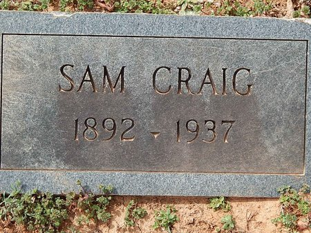 CRAIG, SAM - Anderson County, Tennessee | SAM CRAIG - Tennessee Gravestone Photos