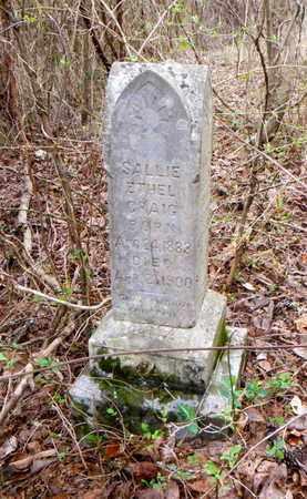 CRAIG, SALLIE ETHEL - Anderson County, Tennessee | SALLIE ETHEL CRAIG - Tennessee Gravestone Photos