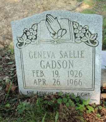 GADSON, GENEVA SALLIE - Anderson County, Tennessee   GENEVA SALLIE GADSON - Tennessee Gravestone Photos
