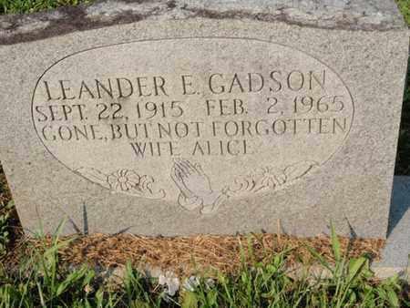 GADSON, LEANDER E - Anderson County, Tennessee | LEANDER E GADSON - Tennessee Gravestone Photos