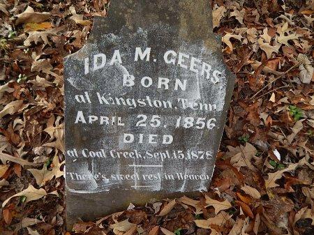 GEERS, IDA M - Anderson County, Tennessee | IDA M GEERS - Tennessee Gravestone Photos