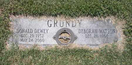 GRUNDY, DONALD DEWEY - Anderson County, Tennessee | DONALD DEWEY GRUNDY - Tennessee Gravestone Photos