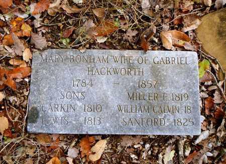 BONHAM HACKWORTH, MARY - Anderson County, Tennessee | MARY BONHAM HACKWORTH - Tennessee Gravestone Photos