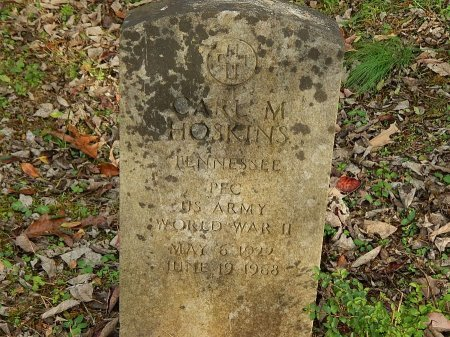 HOSKINS (VETERAM WWII), CARL M  - Anderson County, Tennessee | CARL M  HOSKINS (VETERAM WWII) - Tennessee Gravestone Photos