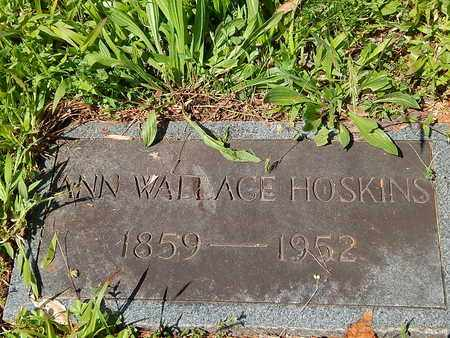 WALLACE HOSKINS, ANN - Anderson County, Tennessee | ANN WALLACE HOSKINS - Tennessee Gravestone Photos