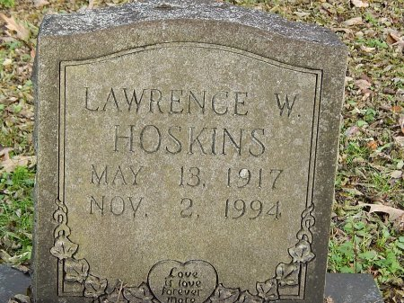 HOSKINS, LAWRENCE W - Anderson County, Tennessee | LAWRENCE W HOSKINS - Tennessee Gravestone Photos