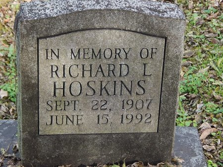 HOSKINS, RICHARD L - Anderson County, Tennessee | RICHARD L HOSKINS - Tennessee Gravestone Photos