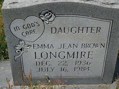 BROWN LONGMIRE, EMMA JEAN - Anderson County, Tennessee | EMMA JEAN BROWN LONGMIRE - Tennessee Gravestone Photos