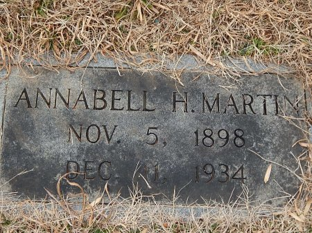MARTIN, ANNABELLE H - Anderson County, Tennessee | ANNABELLE H MARTIN - Tennessee Gravestone Photos
