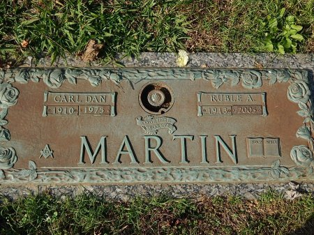 MARTIN, RUBLE A - Anderson County, Tennessee | RUBLE A MARTIN - Tennessee Gravestone Photos