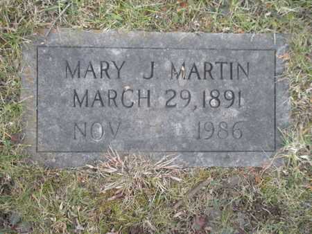 MARTIN, MARY J - Anderson County, Tennessee | MARY J MARTIN - Tennessee Gravestone Photos