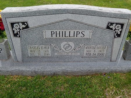 PHILLIPS, CHARLES ELMER - Anderson County, Tennessee | CHARLES ELMER PHILLIPS - Tennessee Gravestone Photos