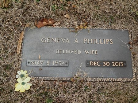 PHILLIPS, GENEVA A - Anderson County, Tennessee | GENEVA A PHILLIPS - Tennessee Gravestone Photos
