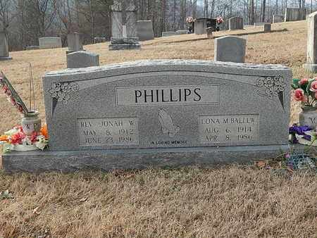 PHILLIPS, JONAH W REV - Anderson County, Tennessee | JONAH W REV PHILLIPS - Tennessee Gravestone Photos