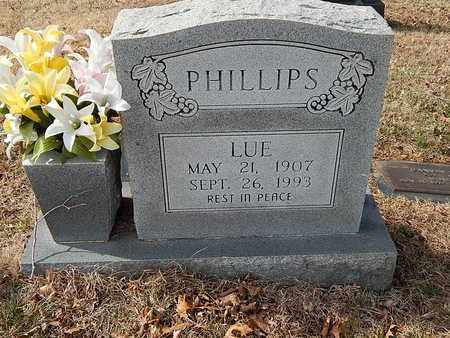 PHILLIPS, LUE - Anderson County, Tennessee | LUE PHILLIPS - Tennessee Gravestone Photos