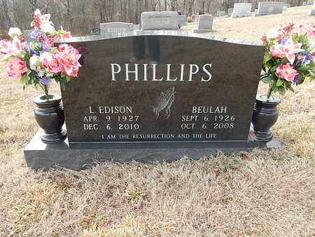 PHILLIPS, BEULAH - Anderson County, Tennessee   BEULAH PHILLIPS - Tennessee Gravestone Photos