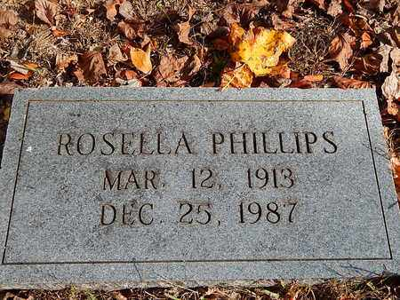 PHILLIPS, ROSELLA - Anderson County, Tennessee | ROSELLA PHILLIPS - Tennessee Gravestone Photos