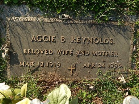 REYNOLDS, AGGIE B - Anderson County, Tennessee | AGGIE B REYNOLDS - Tennessee Gravestone Photos