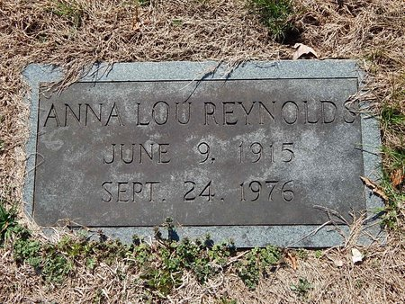REYNOLDS, ANNA LOU - Anderson County, Tennessee | ANNA LOU REYNOLDS - Tennessee Gravestone Photos