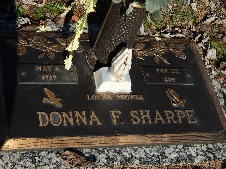 SHARPE, DONNA F - Anderson County, Tennessee   DONNA F SHARPE - Tennessee Gravestone Photos
