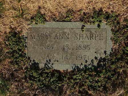 SHARPE, MARY ANN - Anderson County, Tennessee | MARY ANN SHARPE - Tennessee Gravestone Photos