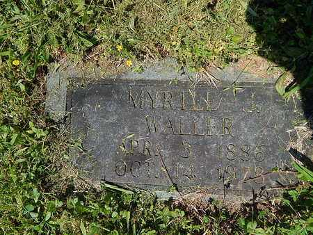WALLER, MYRTLE J - Anderson County, Tennessee | MYRTLE J WALLER - Tennessee Gravestone Photos