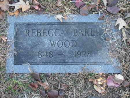 BAKER WOOD, REBECCA - Anderson County, Tennessee | REBECCA BAKER WOOD - Tennessee Gravestone Photos