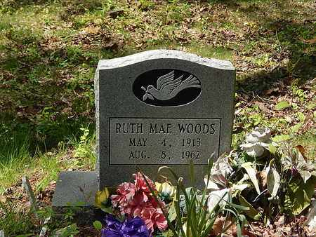 WOODS, RUTH MAE - Anderson County, Tennessee | RUTH MAE WOODS - Tennessee Gravestone Photos
