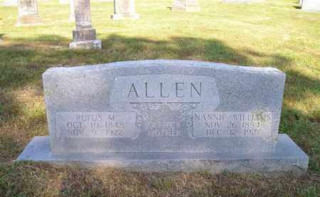 ALLEN, NANNIE - Bedford County, Tennessee   NANNIE ALLEN - Tennessee Gravestone Photos
