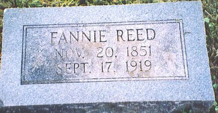 REED, FANNIE - Bedford County, Tennessee | FANNIE REED - Tennessee Gravestone Photos