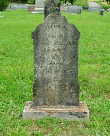 LESLIE, MACK A. - Benton County, Tennessee | MACK A. LESLIE - Tennessee Gravestone Photos