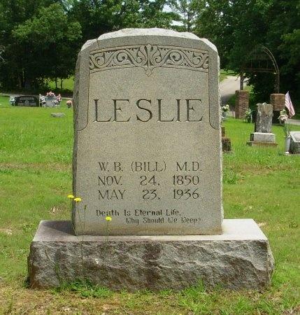 "LESLIE, WILLIAM B. ""BILL"", DR. - Benton County, Tennessee | WILLIAM B. ""BILL"", DR. LESLIE - Tennessee Gravestone Photos"