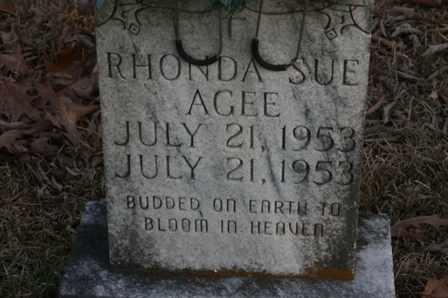AGEE, RHONDA SUE - Bledsoe County, Tennessee | RHONDA SUE AGEE - Tennessee Gravestone Photos
