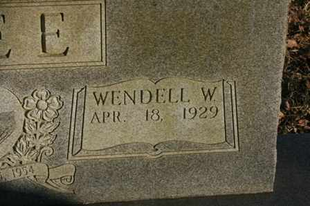 AGEE, WENDALL W. - Bledsoe County, Tennessee | WENDALL W. AGEE - Tennessee Gravestone Photos