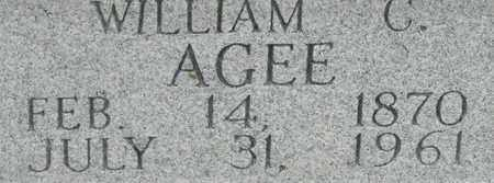AGEE, WILLIAM C. - Bledsoe County, Tennessee | WILLIAM C. AGEE - Tennessee Gravestone Photos
