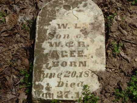 AGEE, W.L. - Bledsoe County, Tennessee | W.L. AGEE - Tennessee Gravestone Photos