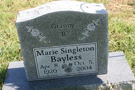 BAYLESS, MARIE - Bledsoe County, Tennessee | MARIE BAYLESS - Tennessee Gravestone Photos